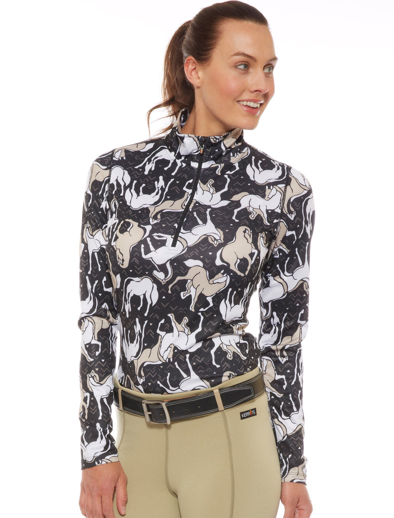 Kerrits Horse Sense Half Zip Riding Shirt - SALE