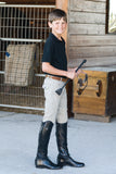 Ovation Boy's EuroWeave 4-Pocket Breech - North Shore Saddlery
