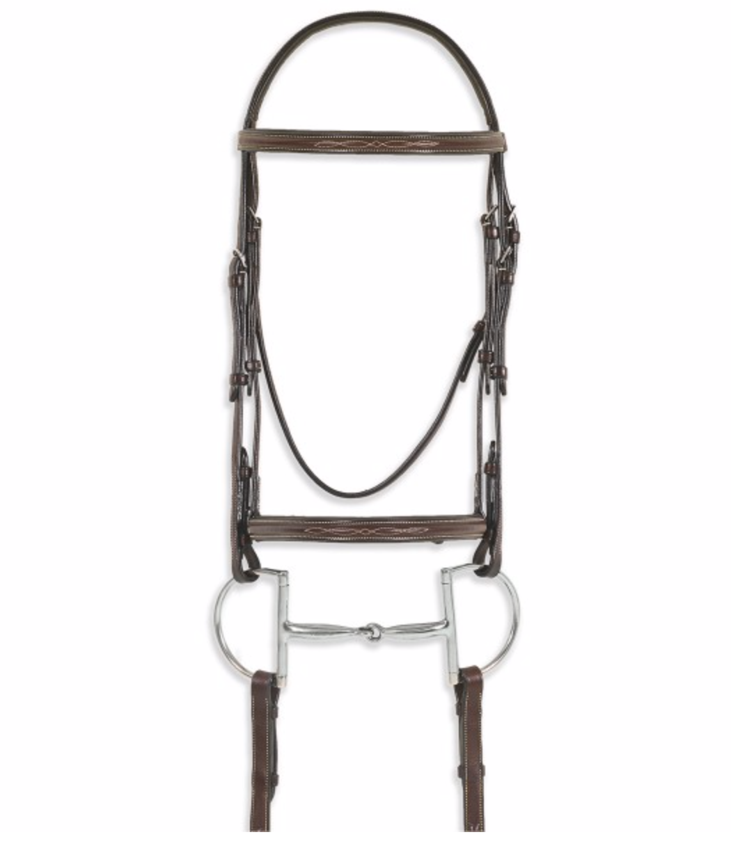 Pessoa PRO Fancy Stitched Raised Bridle - North Shore Saddlery