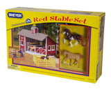 Breyer Stablemates Red Stable Set with Two Horses - North Shore Saddlery