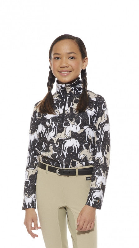 Kerrits Kids Horse Sense Half Zip Riding Shirt