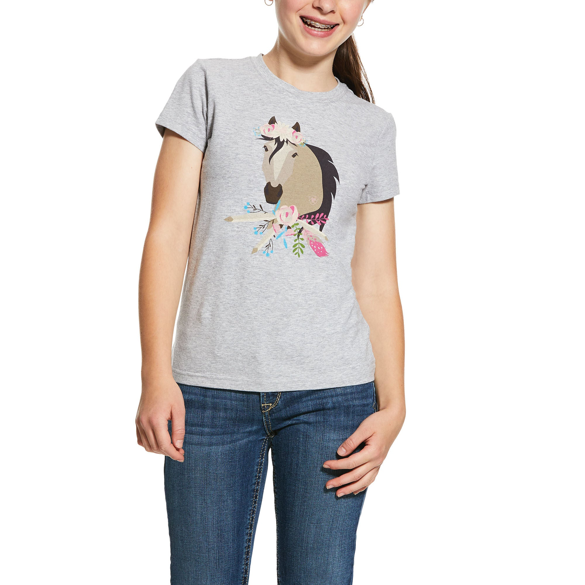 Ariat Girls Bohemian Horse Short Sleeve T-Shirt - North Shore Saddlery