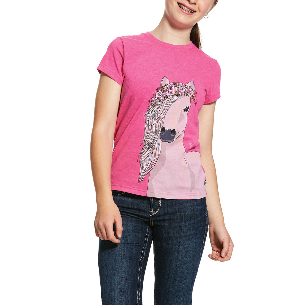 Ariat Girls Festival Horse Short Sleeve T-Shirt