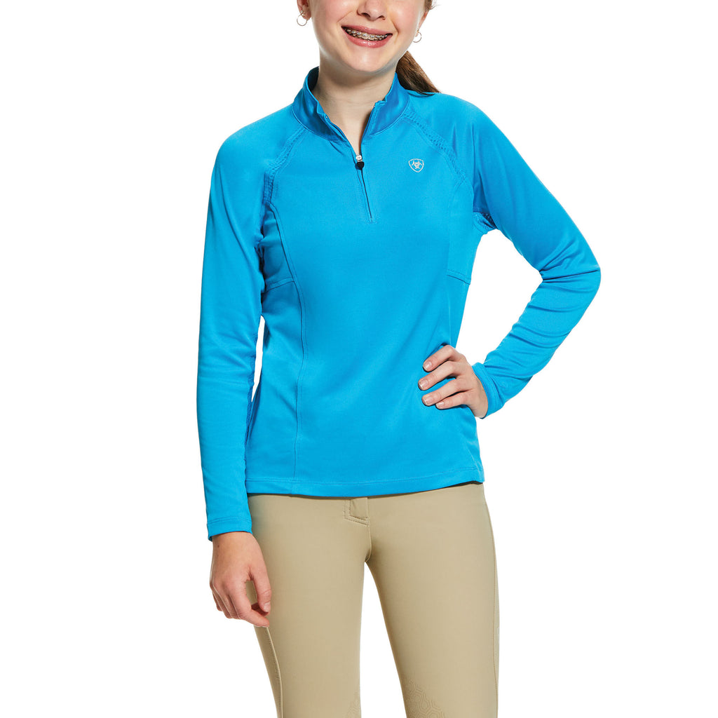 Ariat Girls Sunstopper 2.0 1/4 Zip Baselayer Shirt