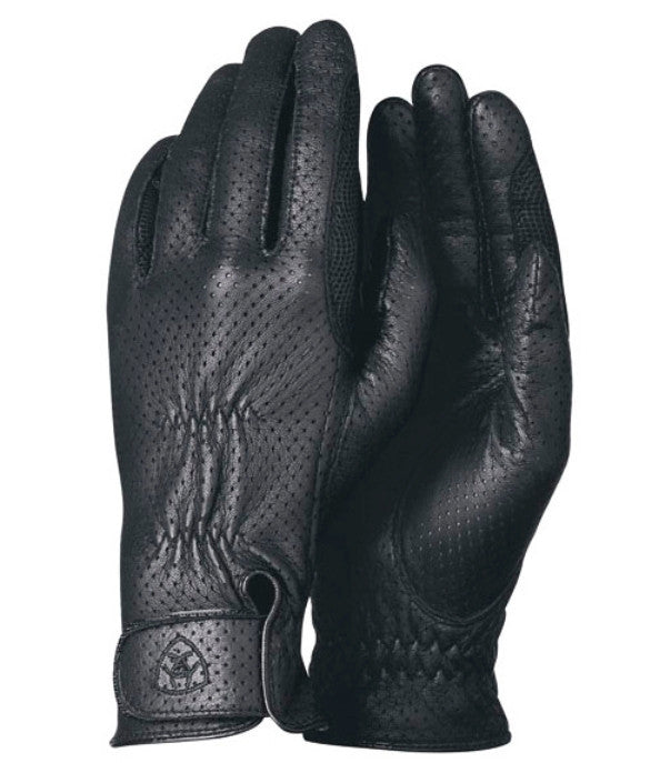 Ariat Perforated Pro Grip Leather Riding Gloves -SALE