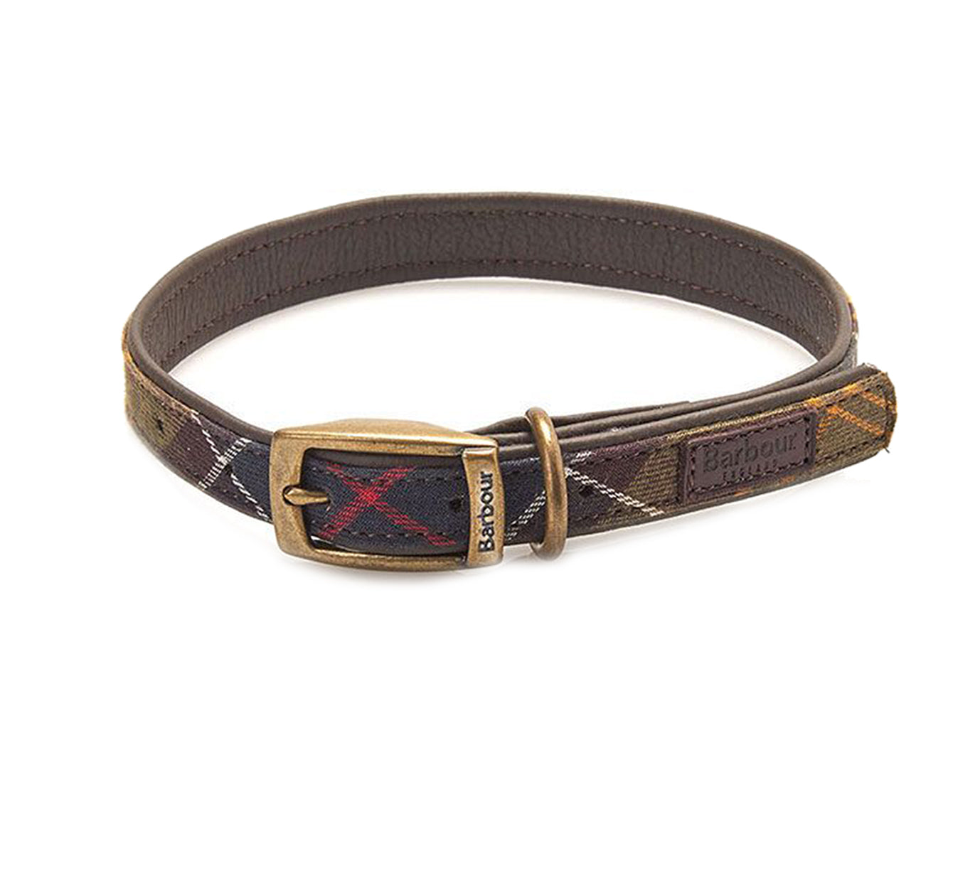Barbour Tartan Leather Dog Collar - North Shore Saddlery
