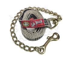 Baker Classic Plaid Lead with Brass Chain - North Shore Saddlery