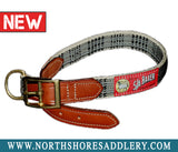 Baker Leather Trim Dog Collar - North Shore Saddlery