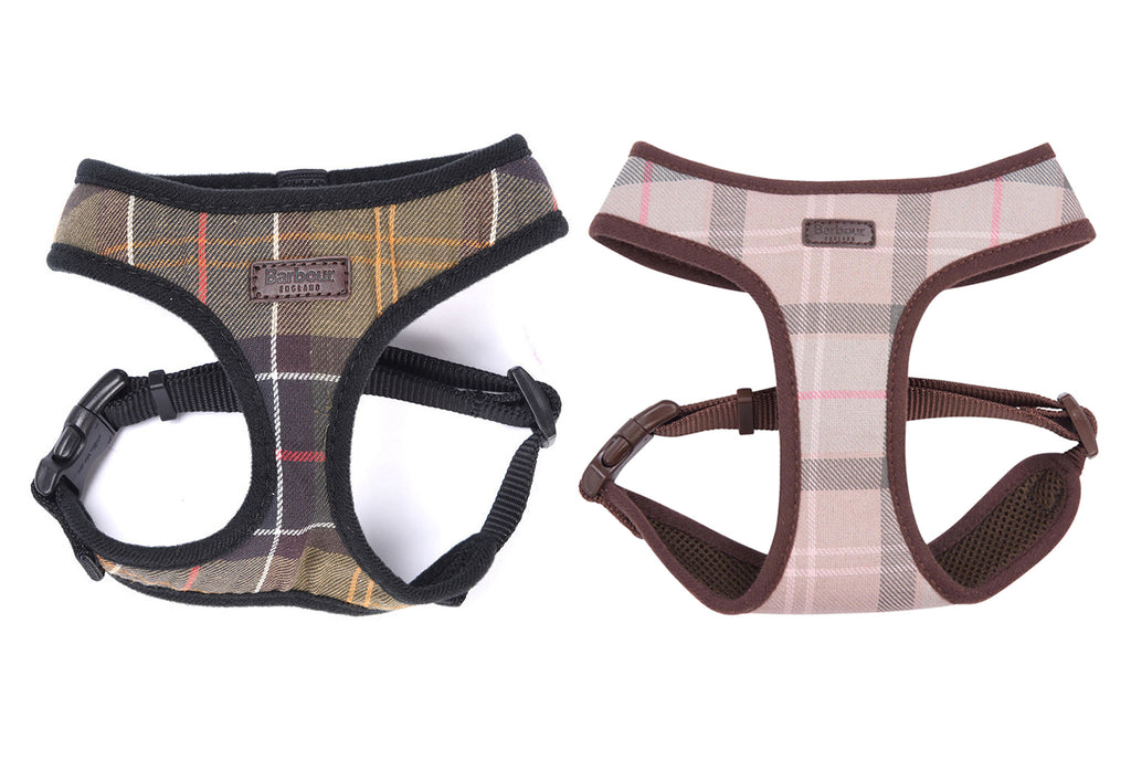 Barbour Tartan Dog Harness