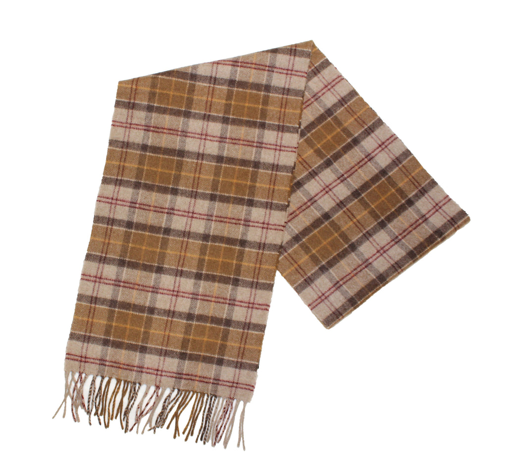 Barbour 100% Cashmere Muted Tartan Scarf