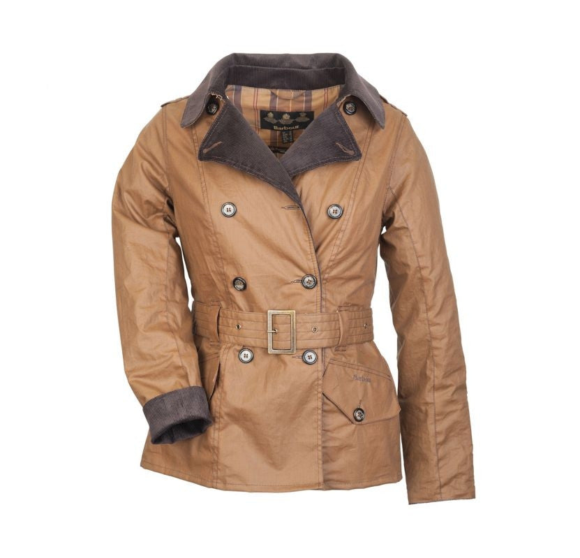 Barbour Elmgate Waxed Trench Coat - SALE
