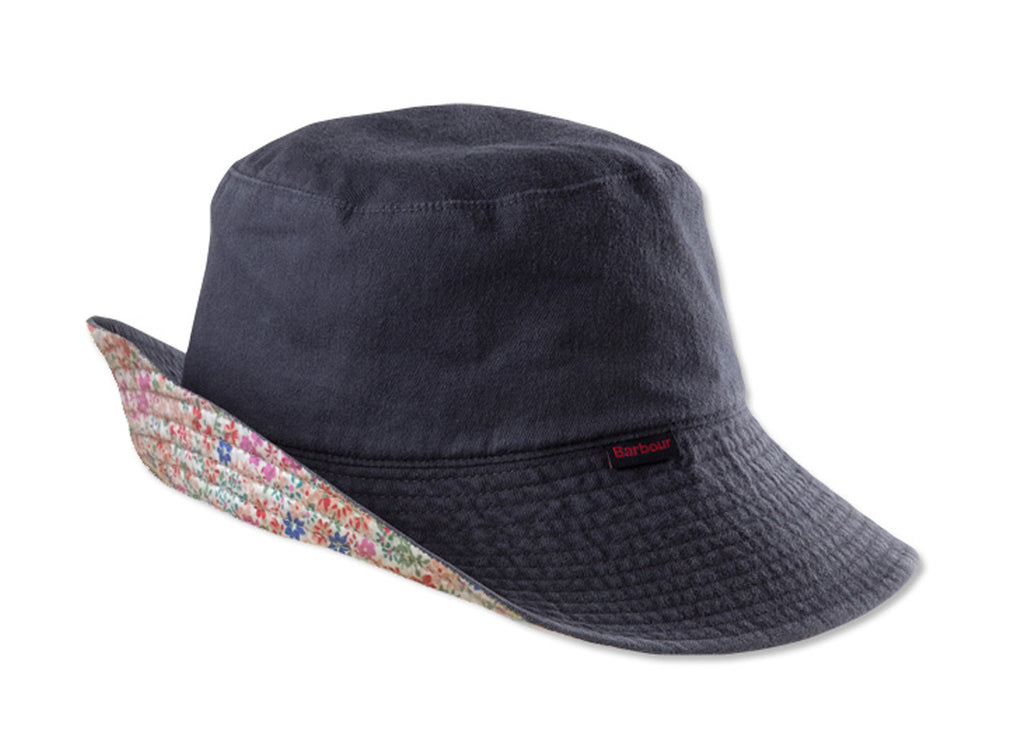 Barbour Ladies Floral Reversible Wide-brimmed Hat - SALE