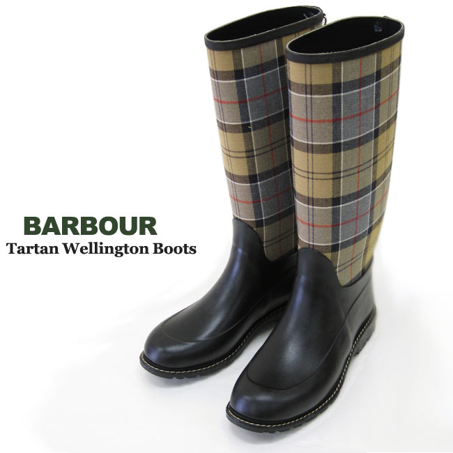 Barbour Ladies' Classic Tartan Wellington Boots - SALE