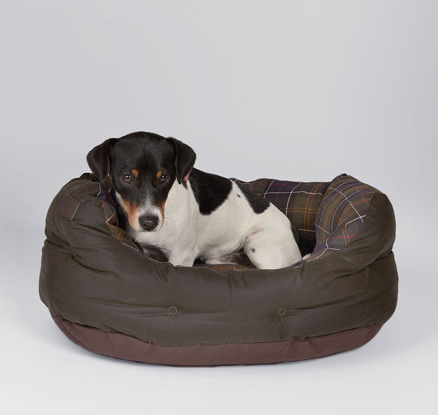 Barbour Waxed Cotton Dog Bed - Medium 24""