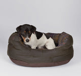"Barbour Waxed Cotton Dog Bed - Medium 24"" - North Shore Saddlery"