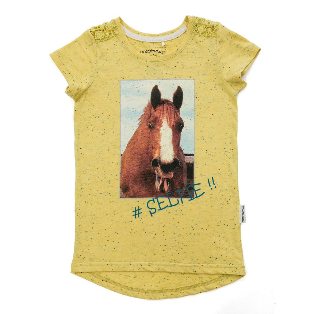 Horseware Girls Novelty Selfie T-Shirt - SALE