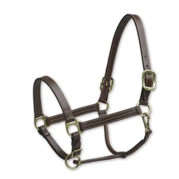 Camelot Triple Stitch Leather Halter