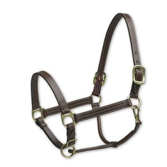 Camelot Triple Stitch Leather Halter - North Shore Saddlery