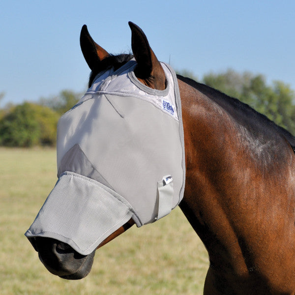 Cashel Crusader Fly Mask Long Nose Without Ears - North Shore Saddlery