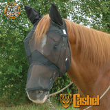 Cashel Quiet Ride Fly Mask Long Nose With Ears - North Shore Saddlery