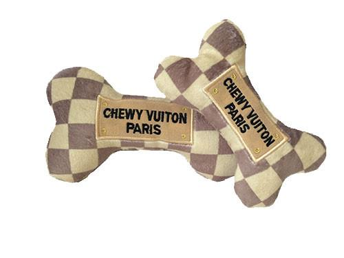 Chewy Vuiton Checker Bone Dog Toy - North Shore Saddlery