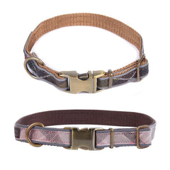 Barbour Reflective Tartan Adjustable Dog Collar