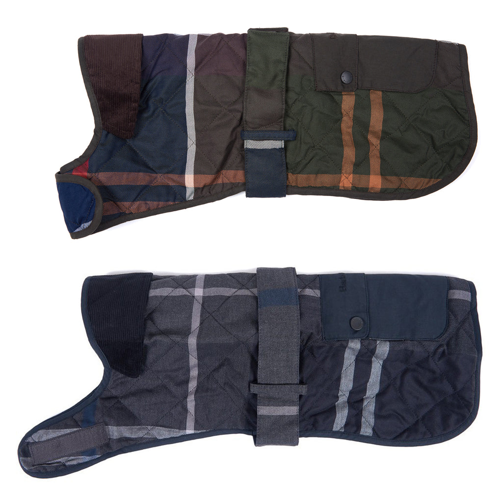 Barbour Quilted Tartan Dog Coat
