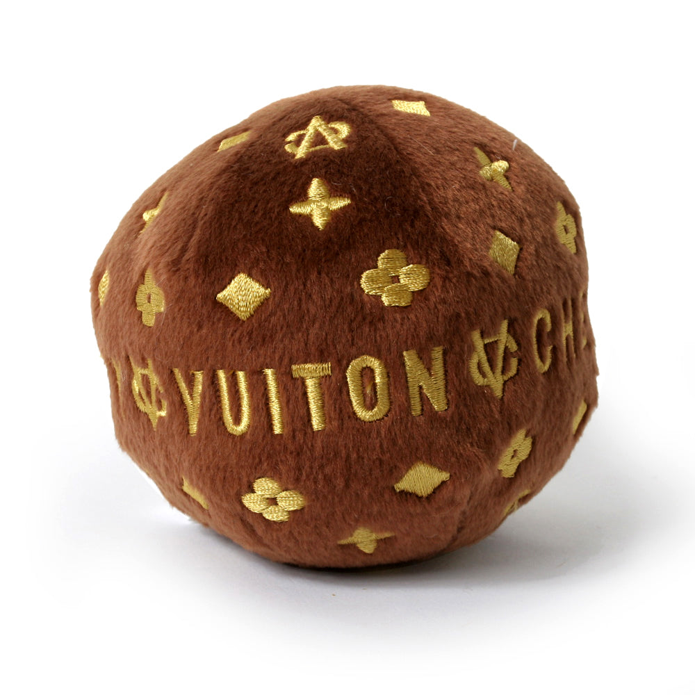 Chewy Vuiton Ball Dog Toy