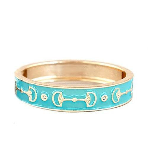 Enamel Snaffle Bit Bangle Bracelet - North Shore Saddlery