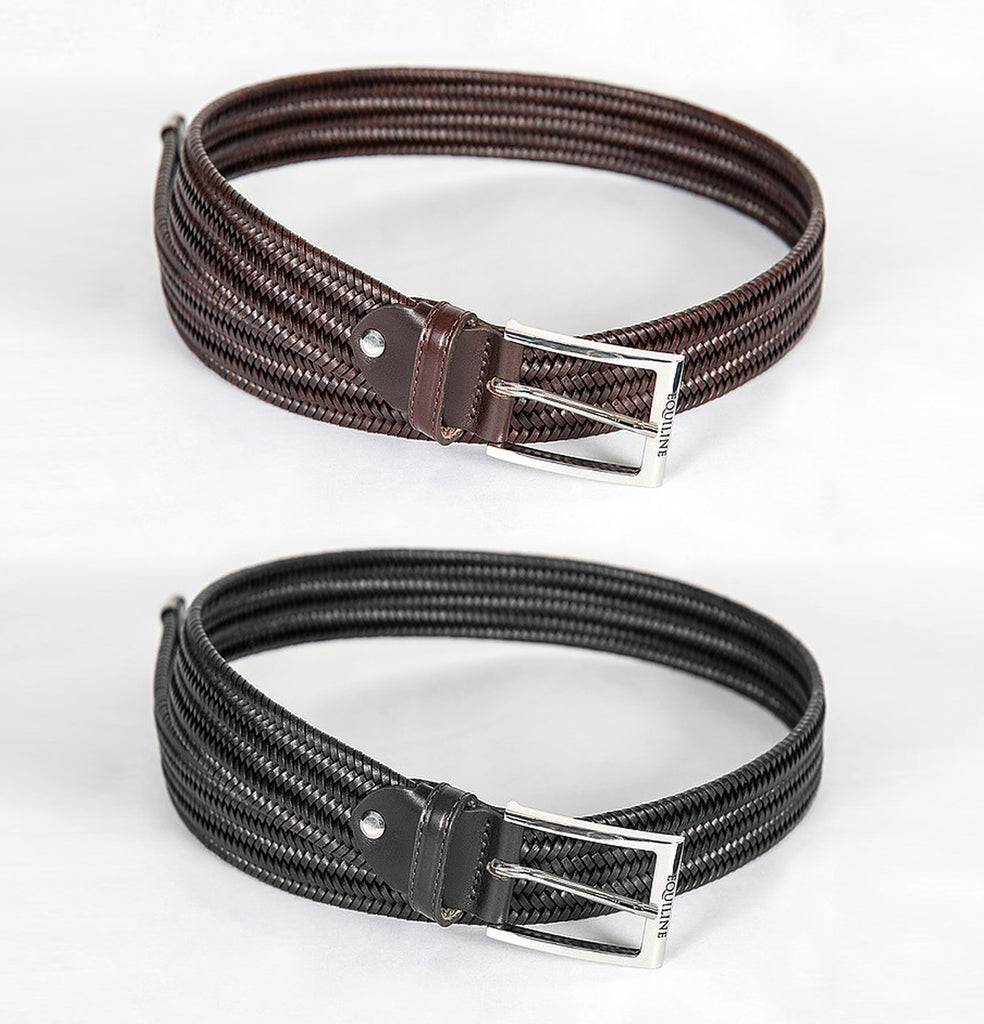 Equiline Logan Braided Leather Unisex Belt