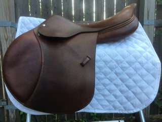 "Amerigo Cervia Saddle 17.5"" (Used) - North Shore Saddlery"