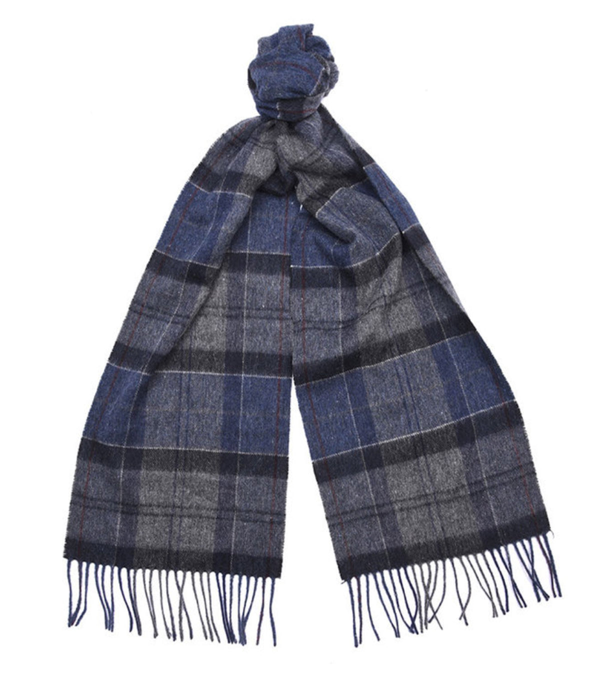 Barbour Tartan Scarf Navy/Grey - North Shore Saddlery