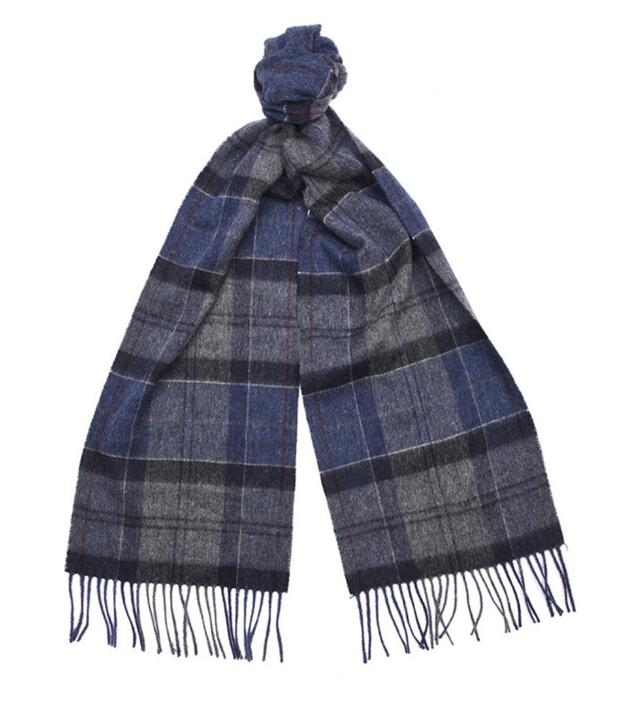 Barbour Tartan Scarf Navy/Grey