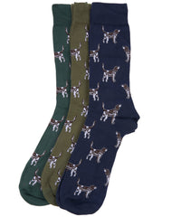Barbour Pointer Dog Socks Gift Box