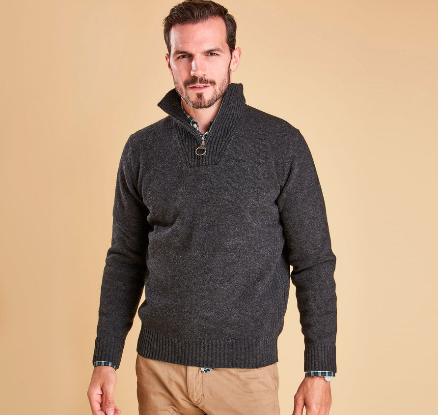 Barbour Essential Lambswool Half-Zip Jumper Sweater