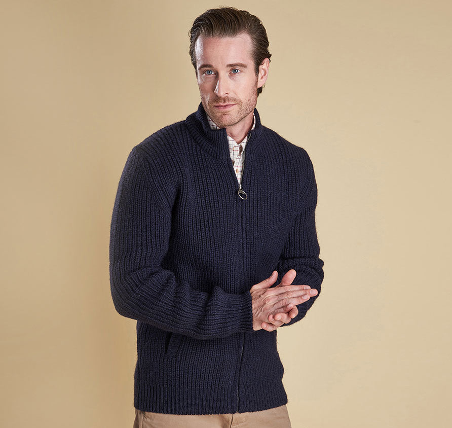 Barbour New Tyne Full Zip Jumper Sweater - SALE