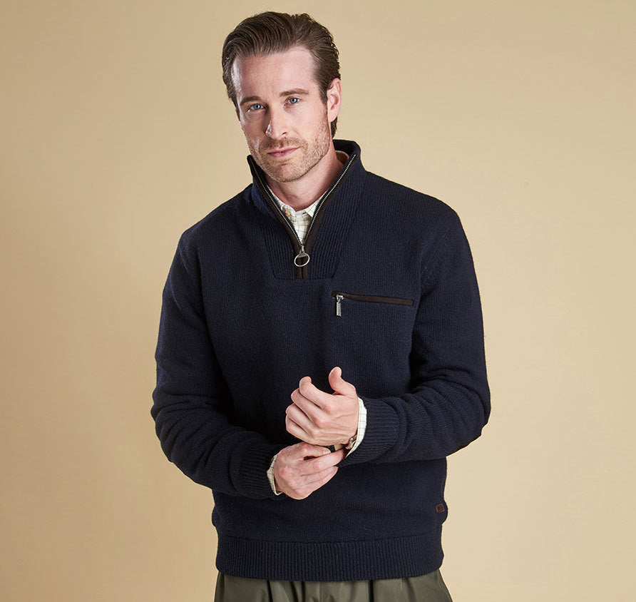 Barbour Ayton Half Zip Sweater - SALE