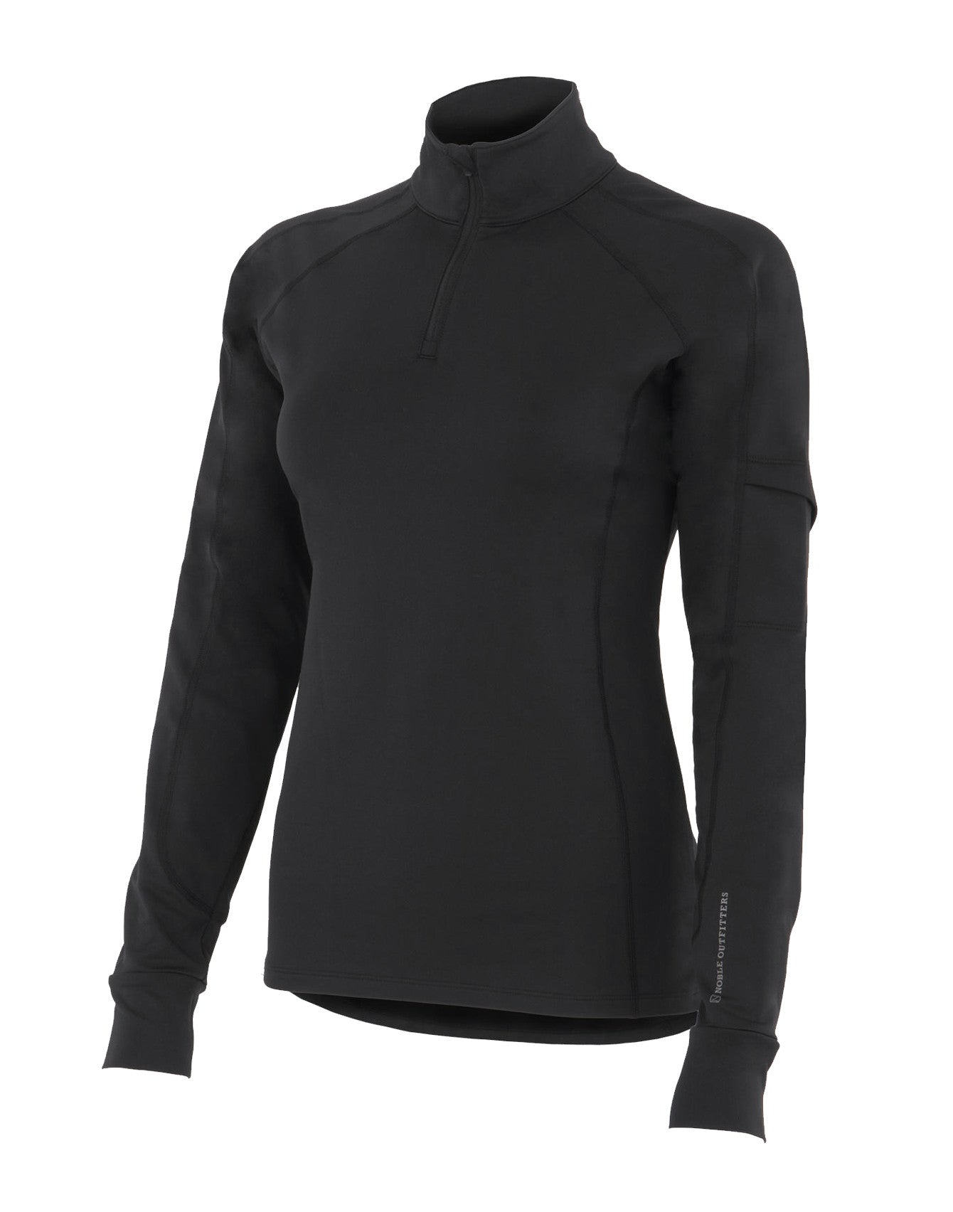 Noble Outfitters Lauren 1/4 Zip Mock Shirt - SALE - North Shore Saddlery