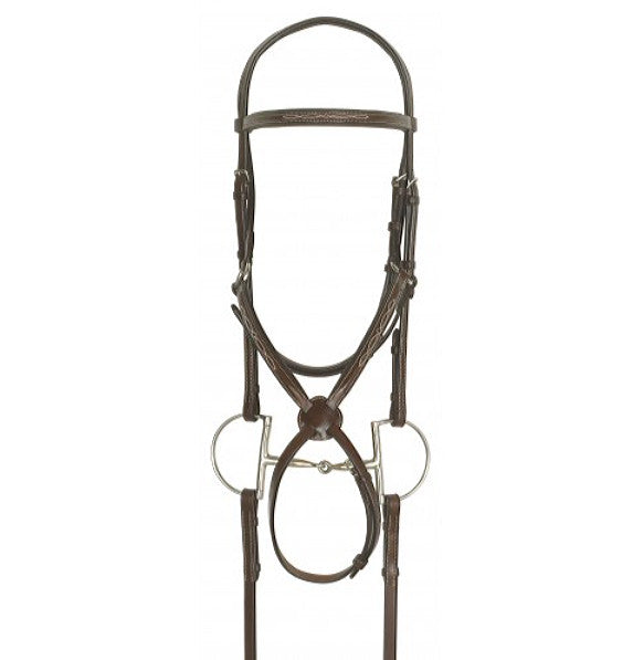 Ovation Fancy Stitched Raised Padded Figure-8 Jumper Bridle - North Shore Saddlery