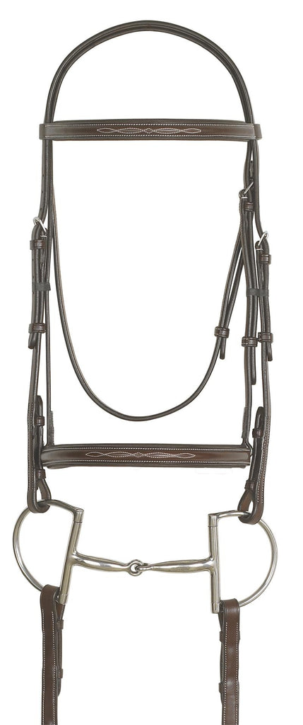 Ovation Fancy Raised Padded Bridle with Laced Reins