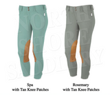 Tailored Sportsman Low Rise Front Zip Breech with Tan Knee Patches - North Shore Saddlery