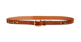 "Tory Leather 1"" Snaffle Bit Leather Belt"