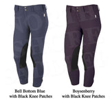 Tailored Sportsman Low Rise Front Zip Breech with Black Knee Patches
