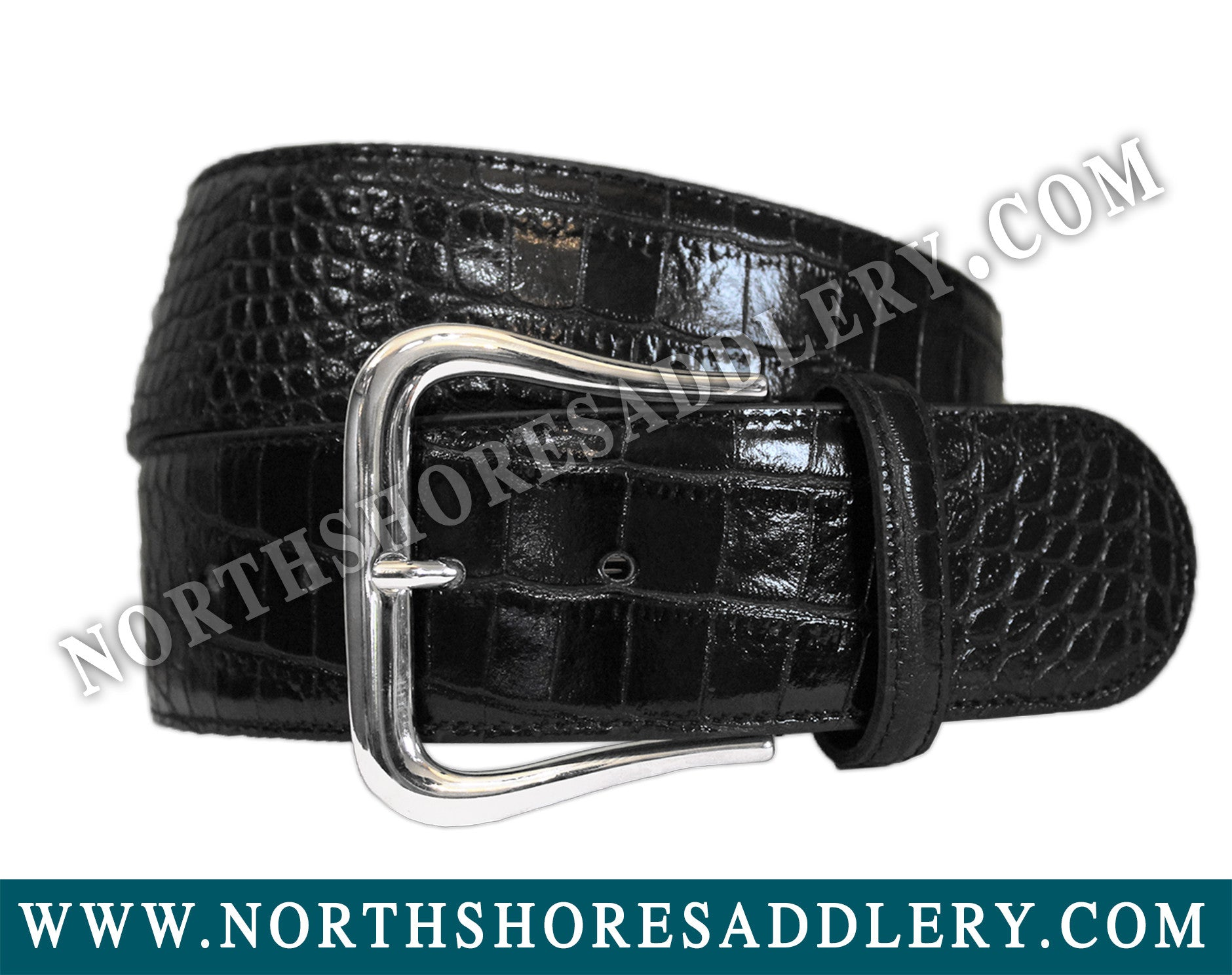 Tailored Sportsman Skin Flick Crocodile Leather Belt