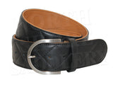 Tailored Sportsman Quilted Two-Tone Leather C Belt