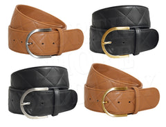 Tailored Sportsman Quilted Leather C Belt - North Shore Saddlery