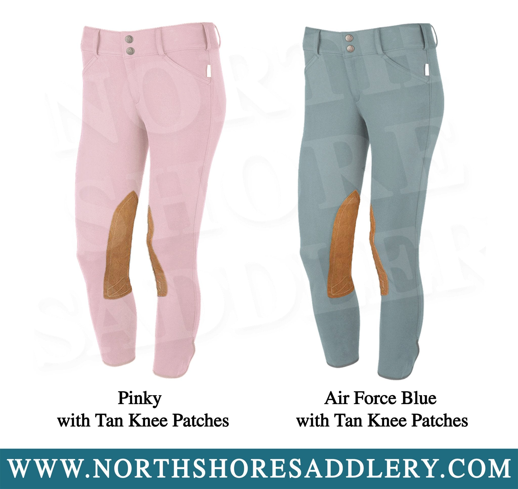 Tailored Sportsman Children's Trophy Hunter Breech with Tan Knee Patches - North Shore Saddlery