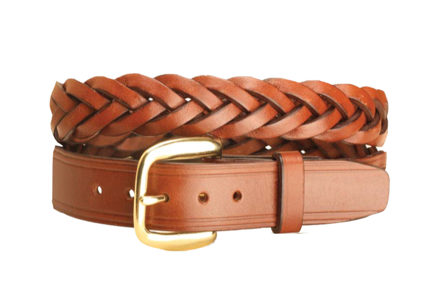 "Tory Leather 1 1/4"" Braided Leather Belt - North Shore Saddlery"