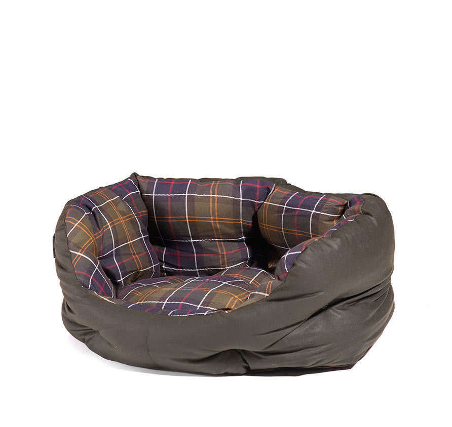 "Barbour Waxed Cotton Dog Bed - Size Small 18"" - North Shore Saddlery"