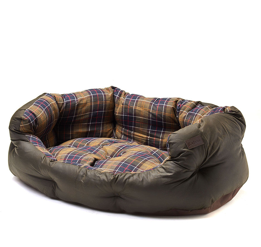 "Barbour Waxed Cotton Dog Bed - Extra Large 35"" - North Shore Saddlery"